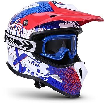 """53-54cm Soxon/® SKC-33 Set /""""Fusion Green/"""" /· Kinder-Cross-Helm /· Motorrad-Helm MX Cross-Helm MTB BMX Sport /· ECE Schnellverschluss SlimShell Tasche S"""