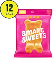 SmartSweets Gummy Bears Fruity Candy With Low-Sugar (3g) & Low Calorie (90)- Free of Sugar Alcohols & No Artificial Sweetener