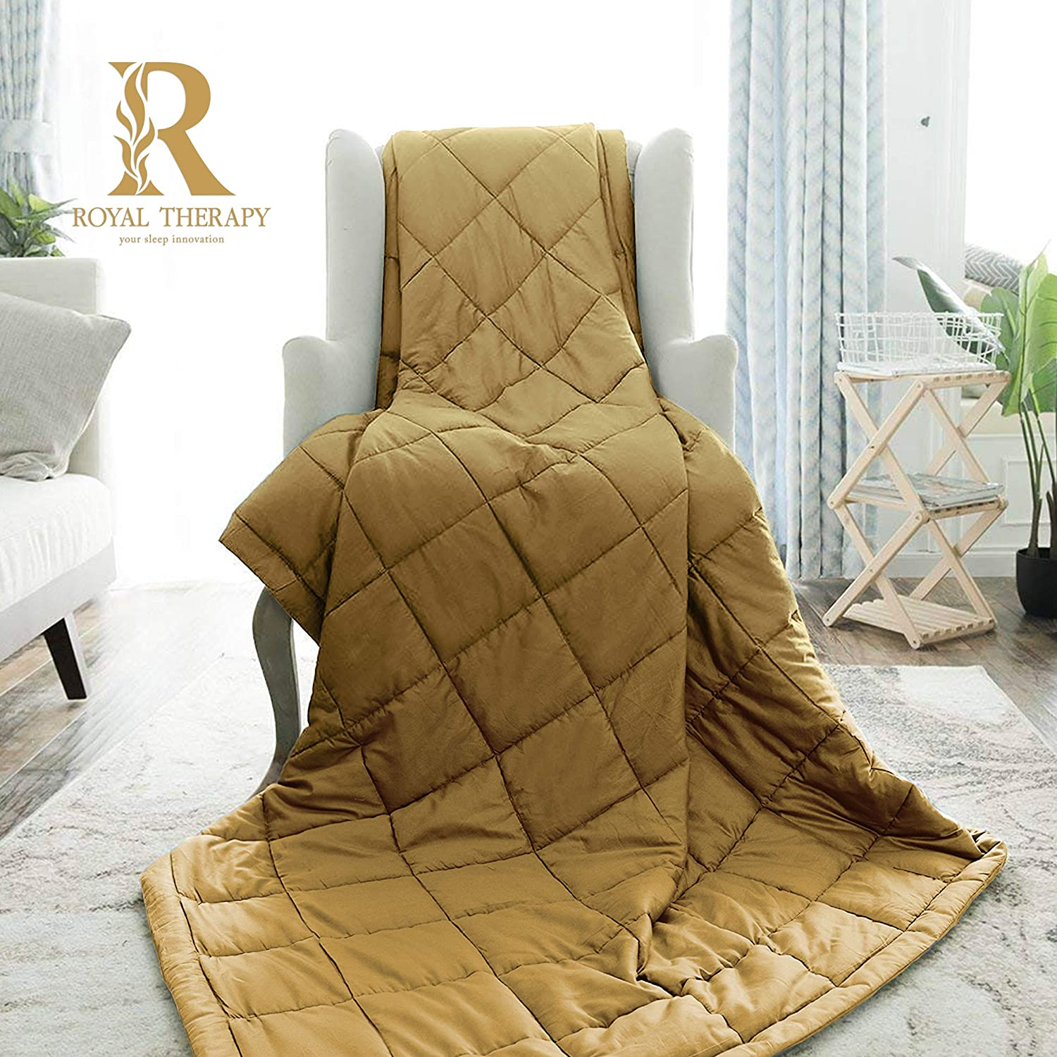 Royal NEW before selling Therapy Weighted Blanket - with Cotton 5 popular 100% Blankets Heavy