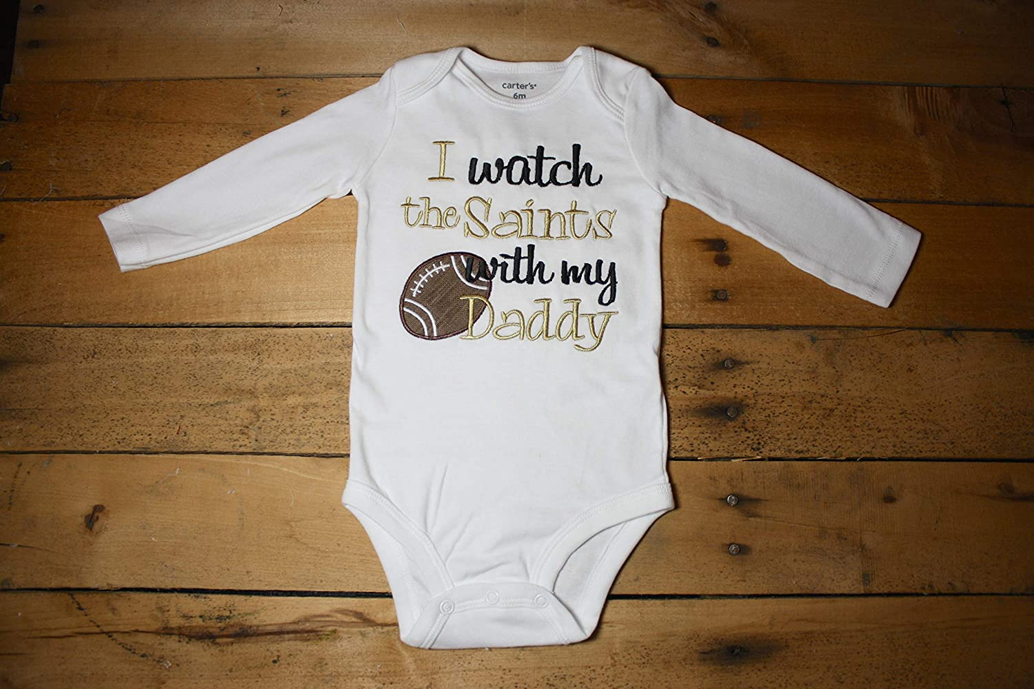 New Orleans Saints Watching With Daddy Football Kids Toddler T-Shirt