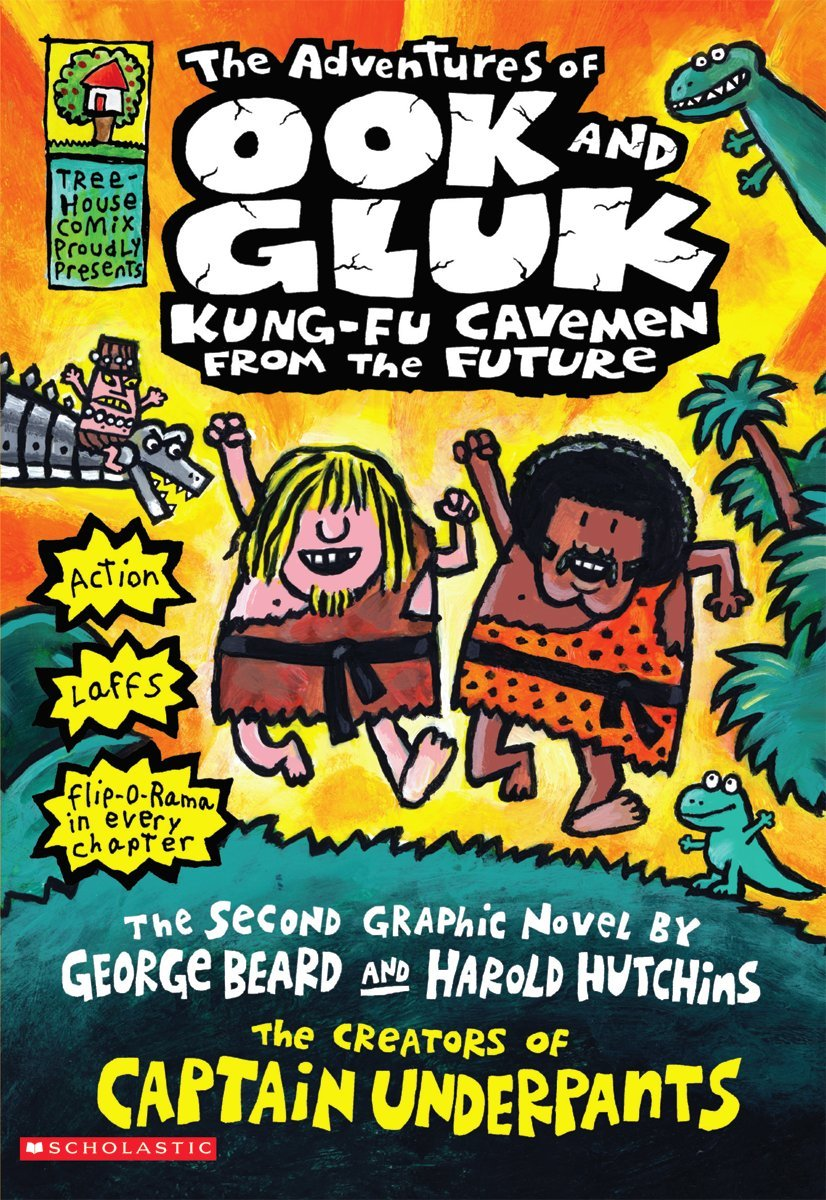 Amazon.com: The Adventures of Ook and Gluk, Kung-Fu Cavemen From the Future  (Captain Underpants) (8581120299991): Dav Pilkey: Books
