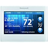 Honeywell TH9320WF5003 Wi-Fi 9000 Color Touch Screen Programmable Thermostat, 3.5 x 4.5 Inch, White, 'Requires C Wire""