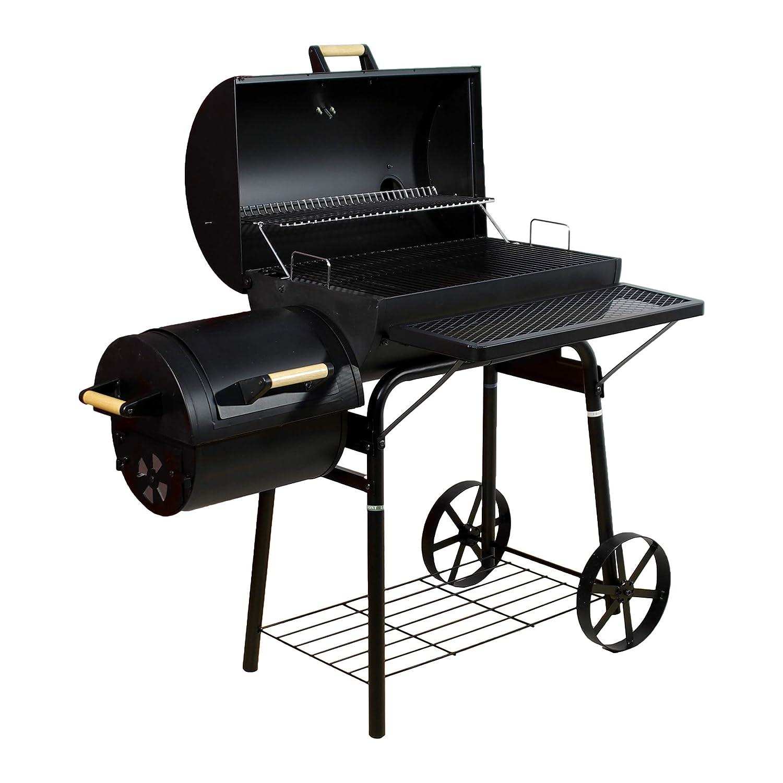 Smoker BBQ Grill Grillwagen Holzkohlegrill Kamingrill XL 32 kg