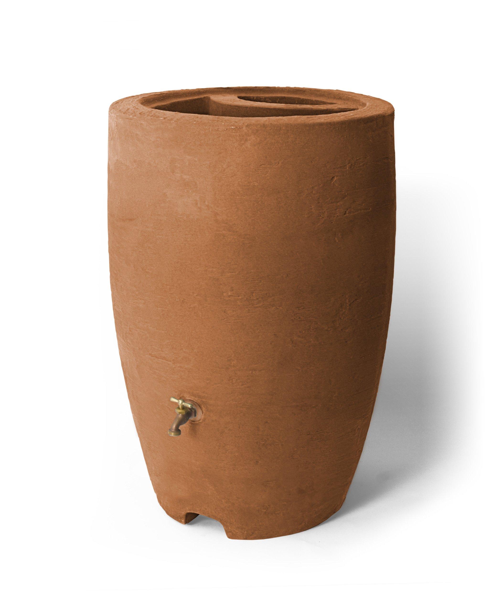 Algreen Products Athena Rain Barrel 50-Gallon, Terra Cotta by Algreen