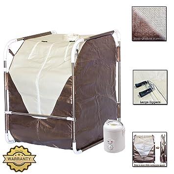 amazon com durherm portable folding spa home steam sauna for detox rh amazon com home steam sauna reviews home steam sauna systems