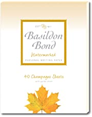 Basildon Bond P4TO 178 x 229 mm Writing Pad with 40 Sheets - Champagne