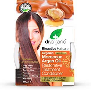 Dr. Organic Argan Hair Treatment Conditioner, 200ml, 1er Pack (1x 200ml)