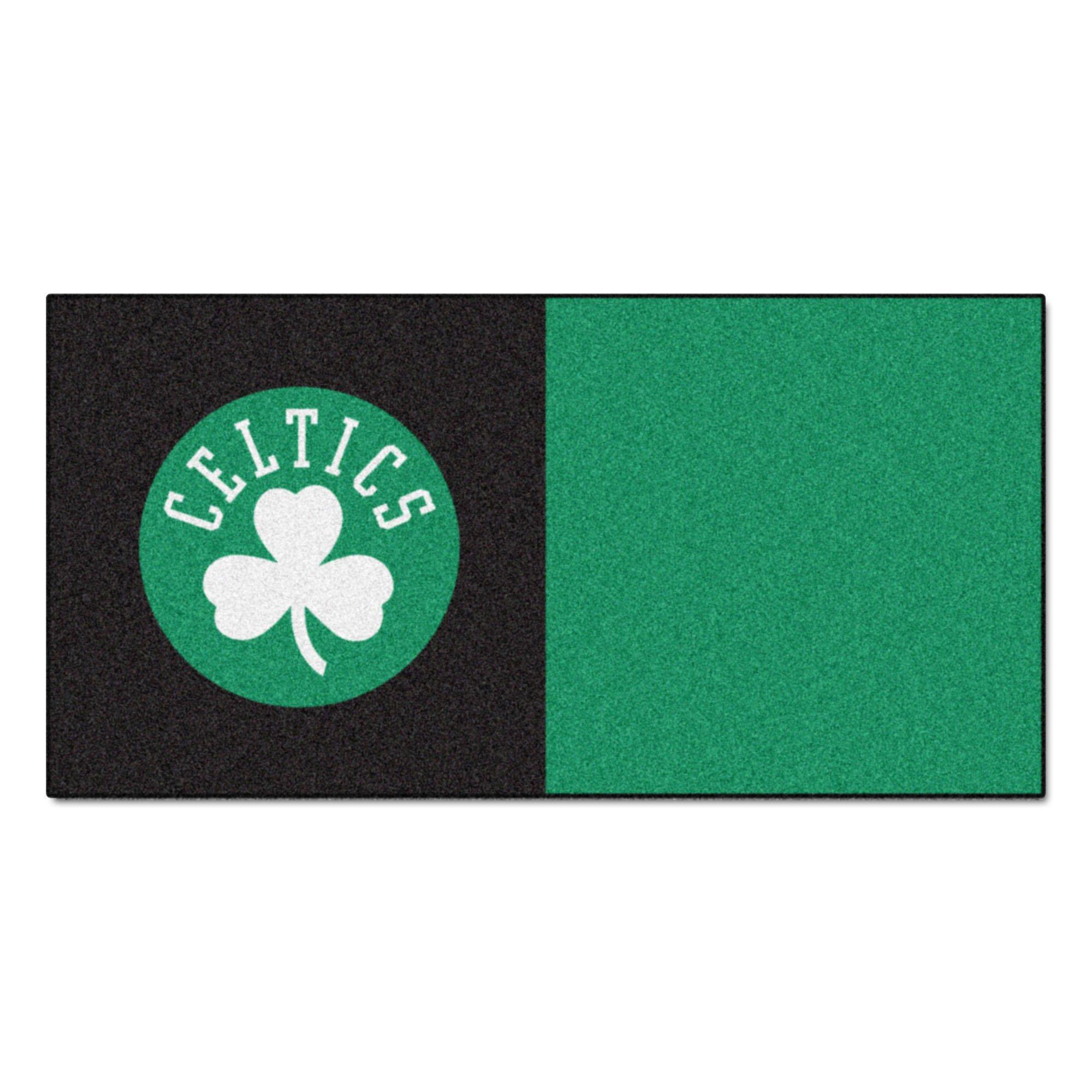 FANMATS NBA Boston Celtics Nylon Face Team Carpet Tiles