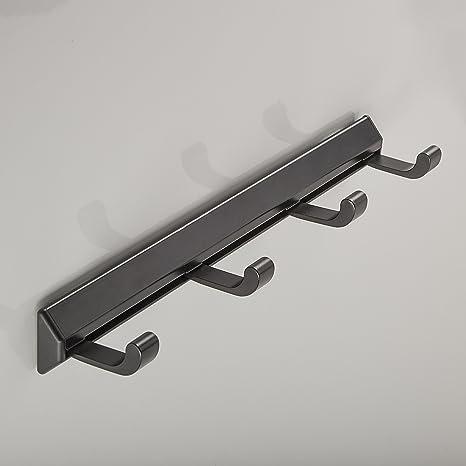 Sotech SO-Tech® Perchero de Pared Aluminio Negro 254 mm con ...