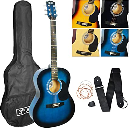 3rd Avenue Acoustic Guitar Pack Blueburst Amazon Co Uk Musical Instruments