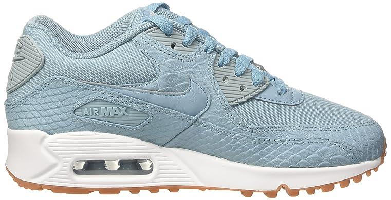 promo code a85ec 8f80f Amazon.com   Nike Wmns Air Max 90 Premium Lifestyle Fashion Sneakers Womens  Mica Blue Mica Blue-Gum Yellow New 896497-400   Fashion Sneakers
