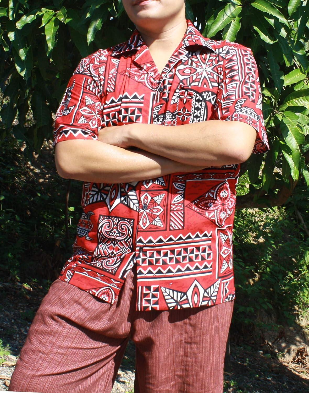 RaanPahMuang High Grade Poplin Cotton Bold Printed Hawaiian Collar Beach Shirt