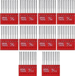 100 piezas agujas para máquina de coser varios colores bolígrafo ...