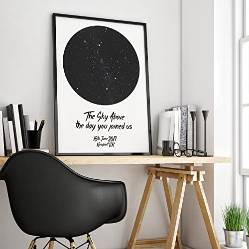 Birthday Star Map.A3 Star Chart Print Star Map Personalised Map Of The Stars
