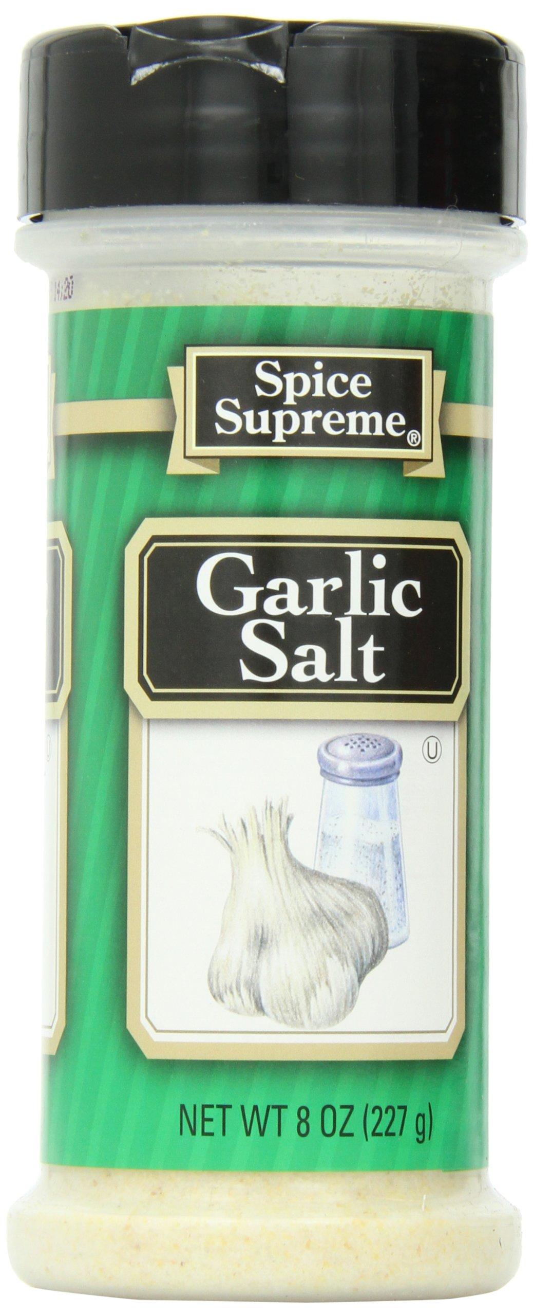 Spice Supreme Garlic Salt, 8-Ounce (Pack of 12)