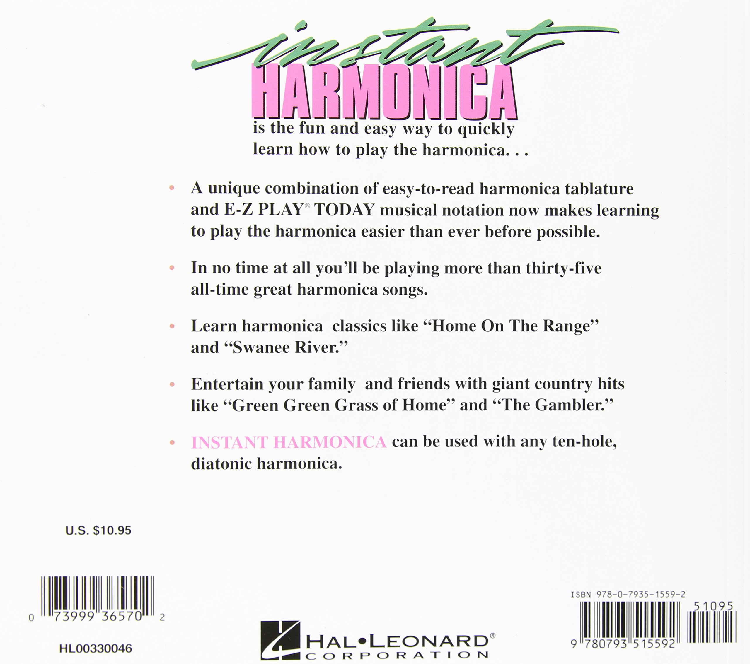 Amazon com: Instant Harmonica: Quick and Easy Instruction