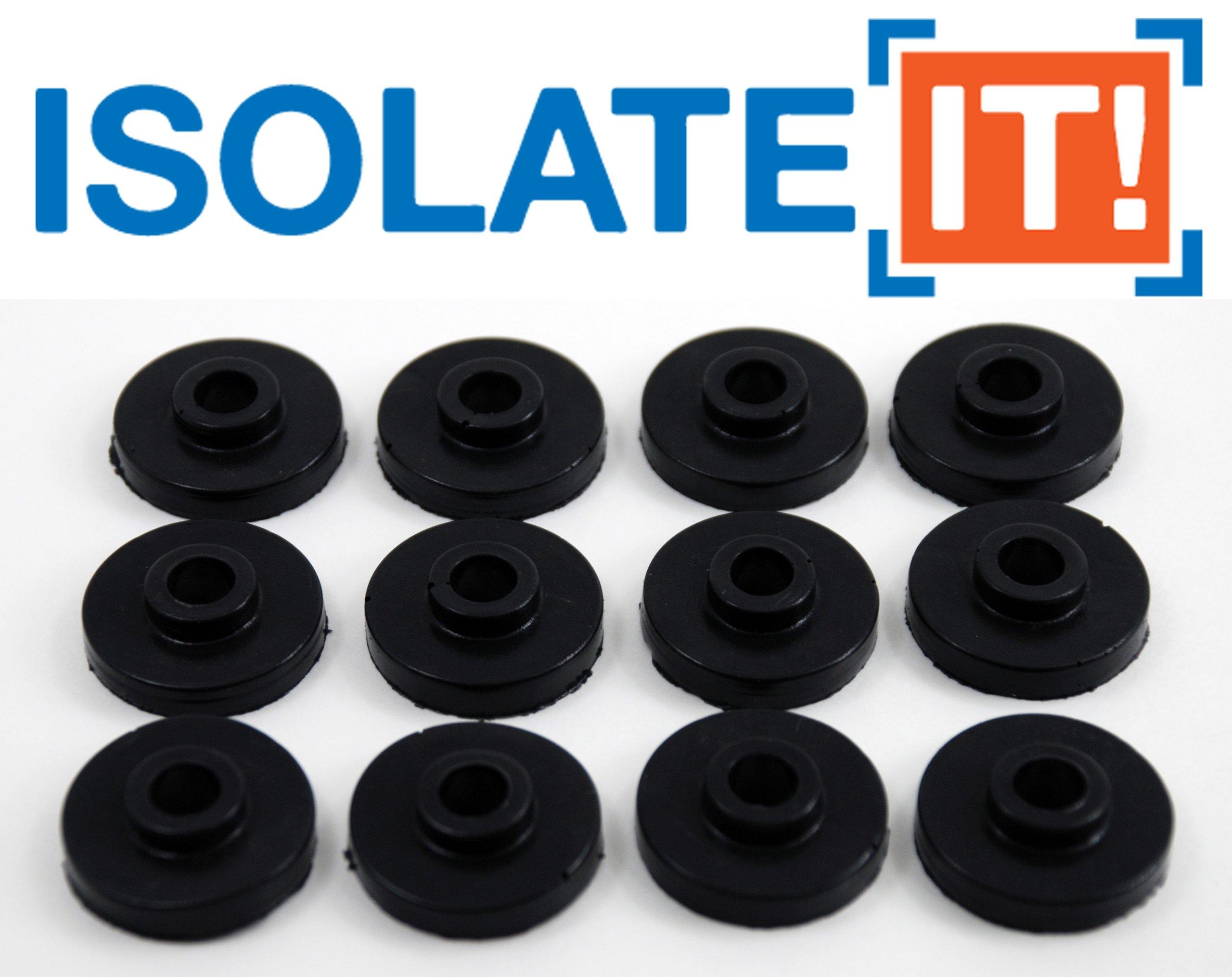 Isolate It: Sorbothane Vibration Isolation Bushing 30 Duro (.28'' ID - 1'' OD - .31'' Deep) - 12 Pack
