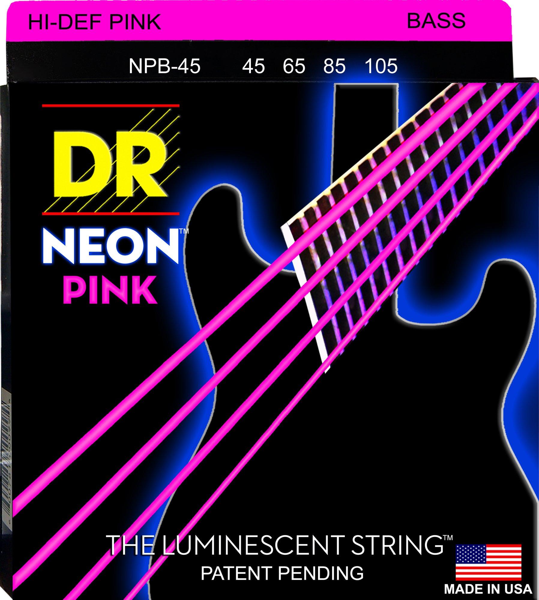 DR Strings HI-DEF NEON Bass Guitar Strings (NPB-45) by DR Strings