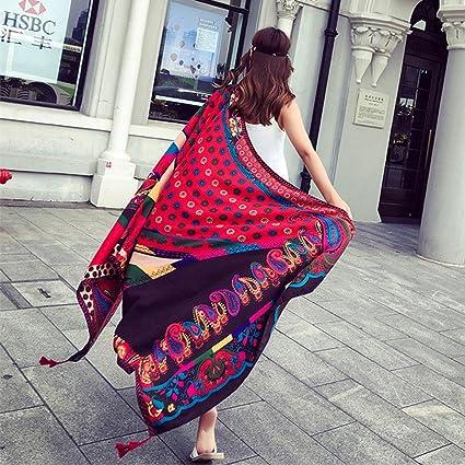 2a7874236c SUNBABY Women Boho Shawl Beach Towels Rectangle Acrylic Scarf Travel Sarong  Wrap Swimwear Cover up Beach Mats (Cashew Nuts Daisy): Amazon.ca: Home &  Kitchen