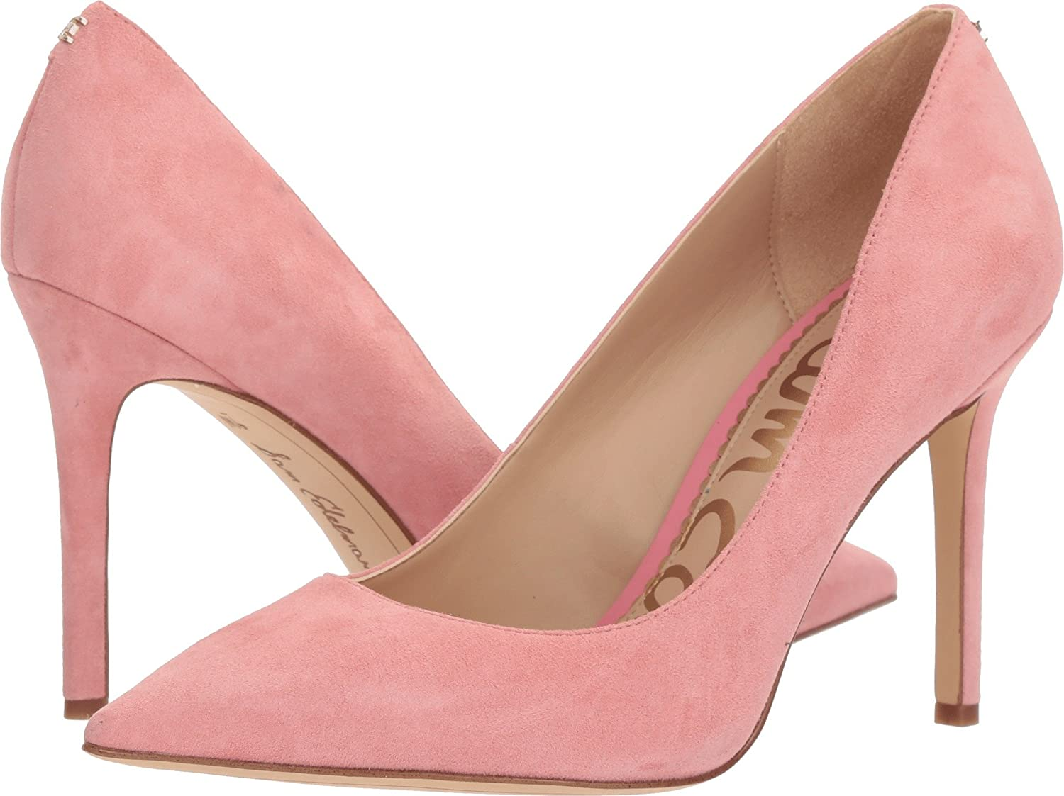 Sam Edelman Women's Hazel Dress Pump B076NY46SG 7 W US|Pink Lemonade Kid Suede Leather