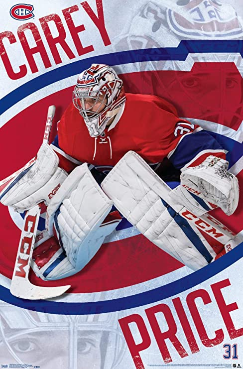Amazon Com Trends International Wall Poster Montreal Canadiens Carey Price 22 375 X 34 Home Kitchen