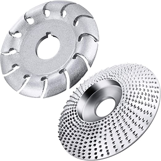 6 Bladed Wood Carving Wheel Fits 4 or 4 1//2in Angle Grinder with 5//8-11 Arbor BOEEMI 6 Teeth Angle Grinder Wood Carving Disc with Matching Grinder Flange Lock Nut /& Extra Cut-Resistance Gloves 3.5in