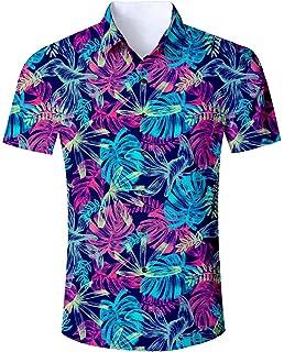 7c8f5fbd Goodstoworld Mens Casual Shirts Funky 3D Printed Short Sleeve Colourful Hawaiian  Shirts S-XL