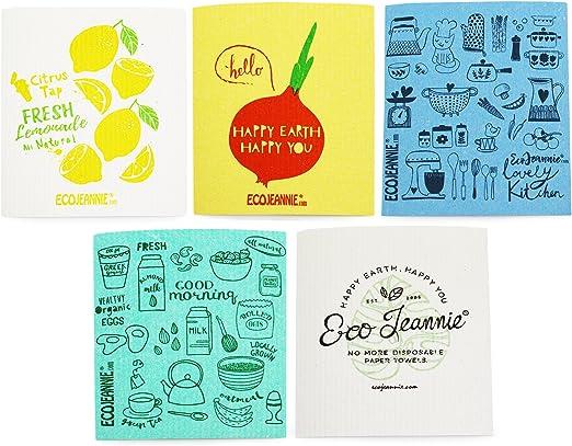 Ecojeannie Eco-friendly gamuza De Limpieza 100% biodegradable ...