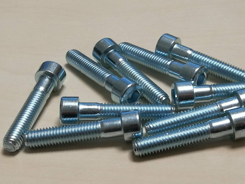 Verzinkter Stahl, M10*30 mm 10 St/ück Innensechskantschrauben DIN 912 Stahl verzinkt