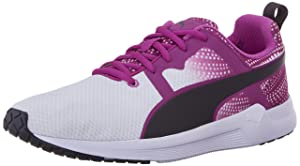 PUMA Women's Pulse XT Graphic 2 Running Sneaker, White/Purple Cactus, 7.5 B US