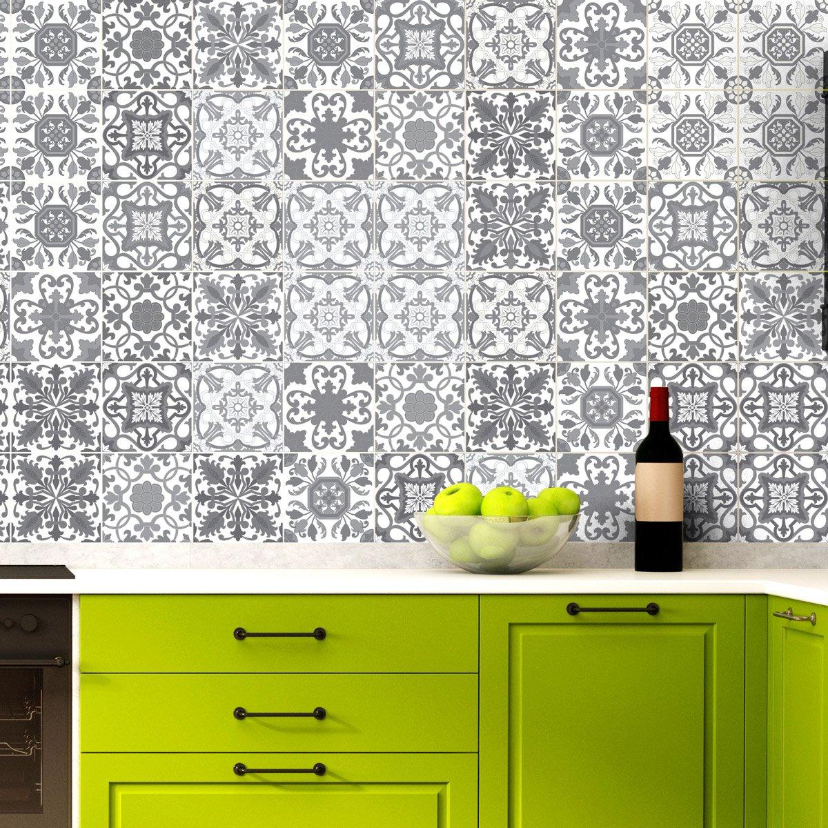 60 Aufkleber Fliesen | Sticker Selbstklebend Fliesen – Mosaik ...