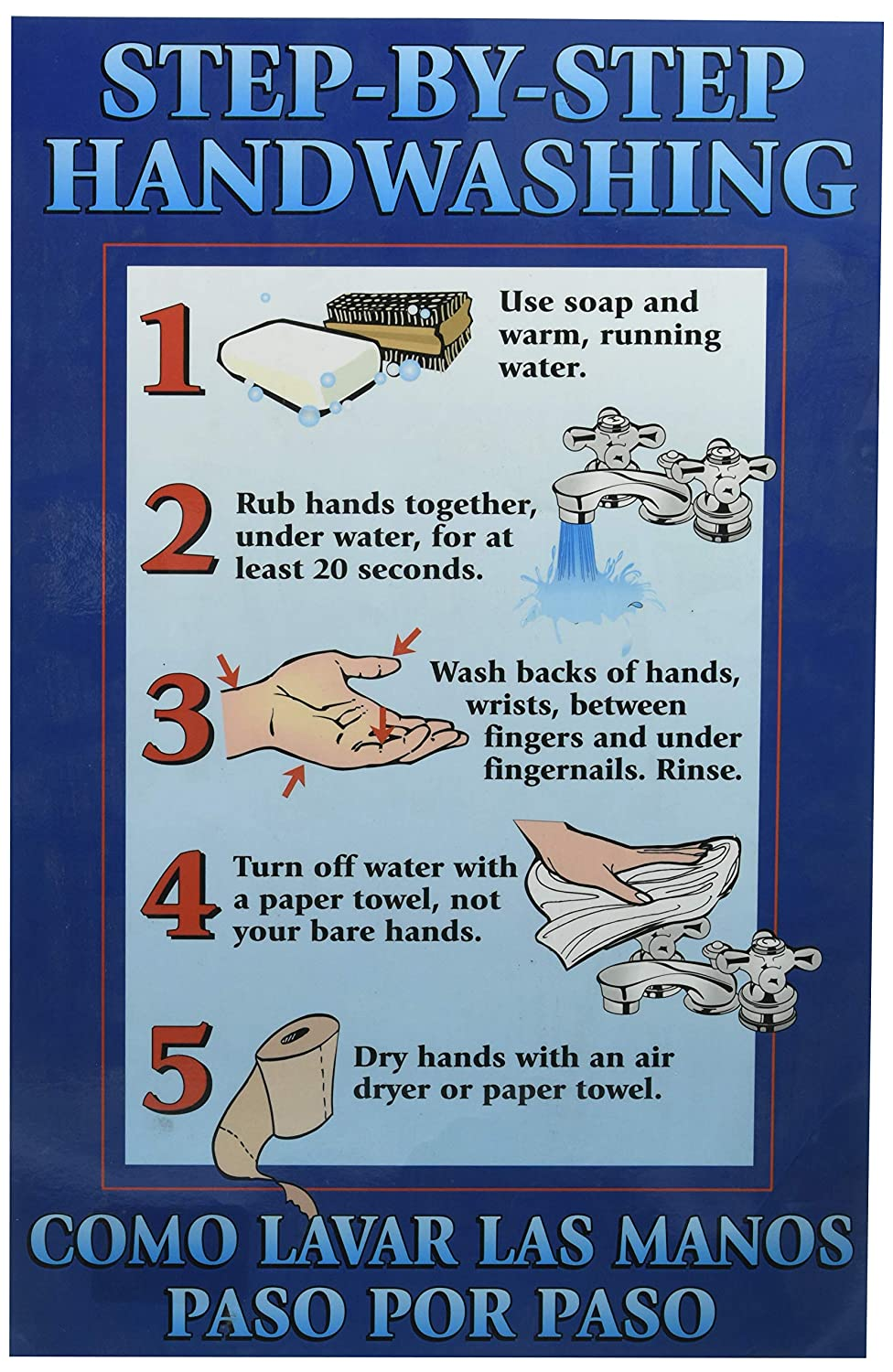 DayMark Safety Systems Step-by-Step HANDWASHING Poster 11