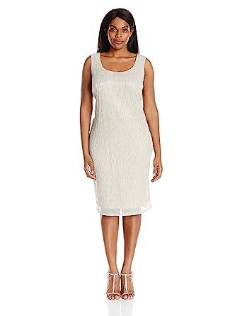 658c32e760e4d R M Richards Women s Plus Size Shimmer Jacket Dress at Amazon ...