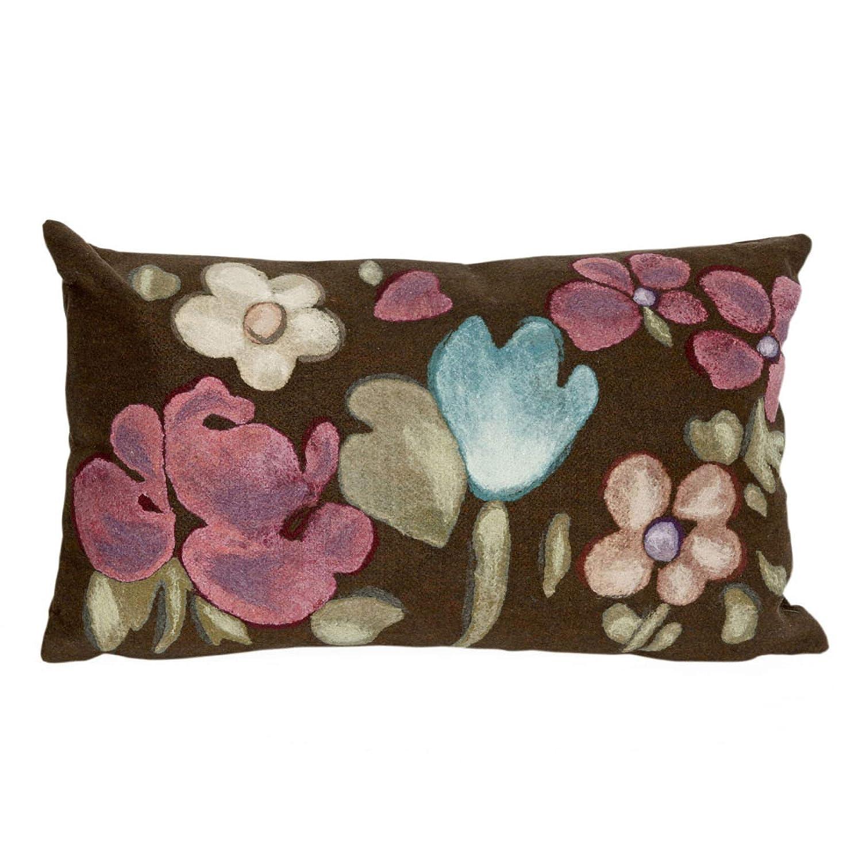 12X20 Liora Manne 7S41SB29619 Mystic II Wild Flowers Indoor//Outdoor Pillow Brown