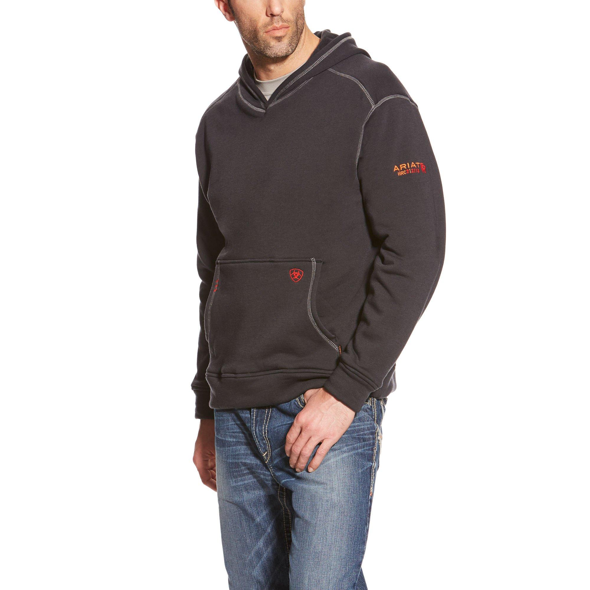 Ariat Men's Flame Resistant Polartec Hoodie, Black, Large