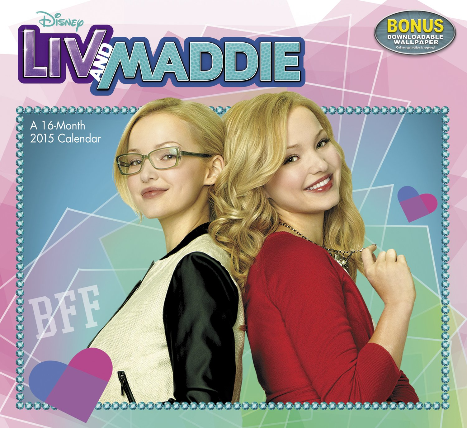 Disney channel coloring pages liv and maddie - Disney Liv And Maddie Wall Calendar 2015 Day Dream 9781629050829 Amazon Com Books