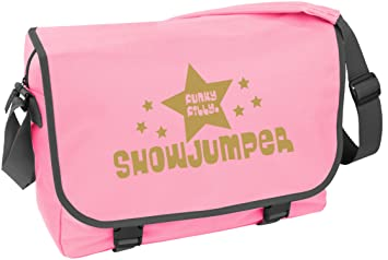Image Unavailable. Image not available for. Colour  Funky Filly Pony Girls  Showjumper Horse Rider A4 School College Messenger Bag Pink ... 2d3fe1180148a