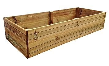 1 7mx 0 7mx 35cm Premium Pressure Treated Timber Raised Vegetable/Flower  Bed Planter