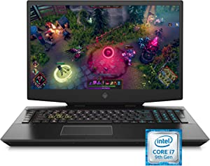 Omen by HP 2019 17-Inch Gaming Laptop, Intel i7-9750H, NVIDIA GeForce RTX 2060 (6 GB), 16 GB RAM, 512 GB Solid-State Drive, VR Ready, Windows 10 Home (17-cb0070nr, Shadow Black)