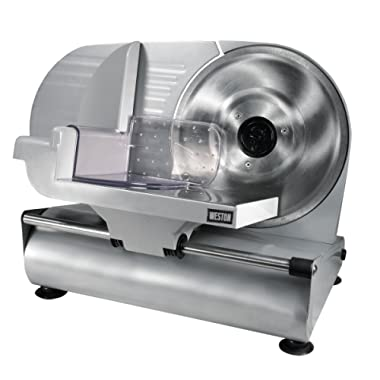 Weston 61-0901-W Heavy Duty Meat and Food Slicer, 9 , Stainless Steel