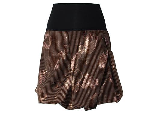 dunkle design - Falda - Globo - para Mujer marrón 40: Amazon.es ...