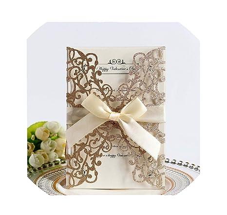 Amazon.com: 100 tarjetas de invitación de boda de papel con ...