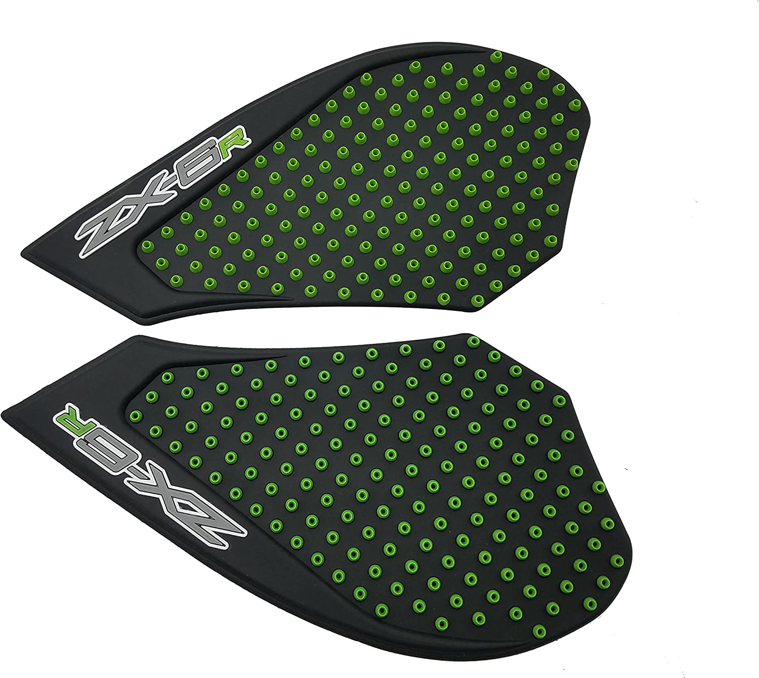 Green Anti slip Tank Traction Side Pads Grip Protector For Kawasaki Ninja 636 ZX6R 2007-2008