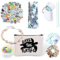 Amazon Price History for:VSCO Girl Stuff - Flask Stickers, Reusable Straw & Teen Accessories Kit in a Cosmetic Bag