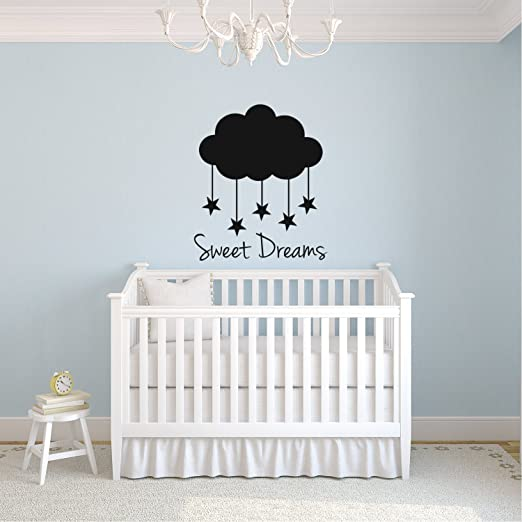 Sweet Dreams Wall Art Sticker Removable Vinyl Decal Transfer Bedroom Baby Room