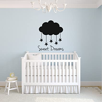 Amazon.com: Sweet Dreams Clouds and Stars - Vinyl Wall Art Stickers ...