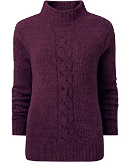 Cotton Traders Womens Ladies Soft Touch Winter Casual Snowflake Jumper