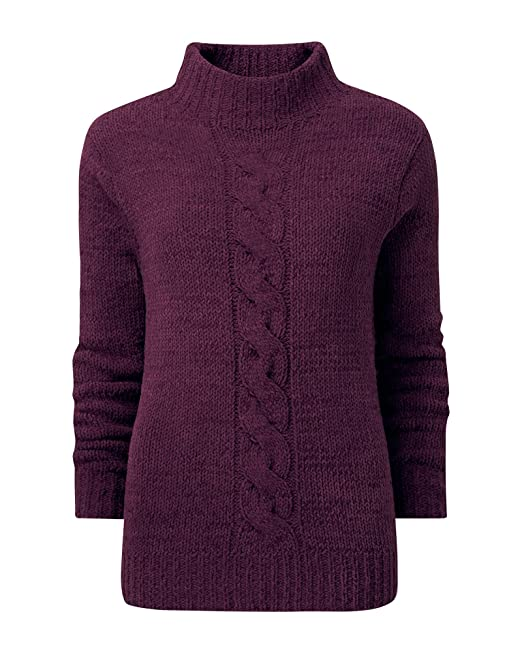 3d522bc8864 Cotton Traders Womens Casual Chenille Cable Knitted Jumper: Amazon ...