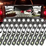 Ampper LED Truck Bed Light Kit, 60 LEDs Cargo Lighting Strips W/Switch Fuse Splitter Cable for Truck Bed, Foot Wells…
