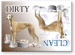 Greyhound Clean Dirty Dishwasher Magnet No 2